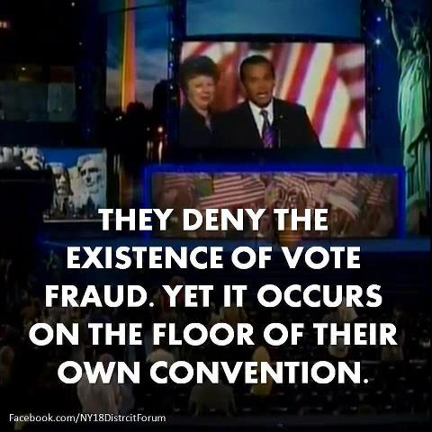 democrats voter fraud at convention